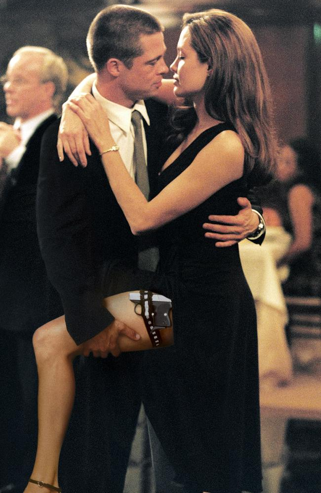 Brad Pitt and Angelina Jolie famously got together after starring in  <i>Mr. & Mrs. Smith</i>. Picture: Twentieth Century Fox, Stephen Vaughn.
