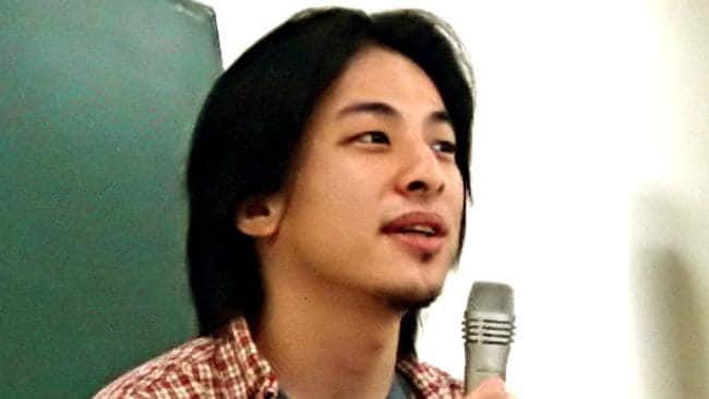 4chan owner Hiroyuki Nishimura. Picture: Joichi Ito