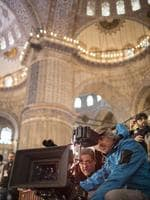 Director Russell Crowe and Cinematographer Andrew Lesnie on set of The Water Diviner. Picture: Universal