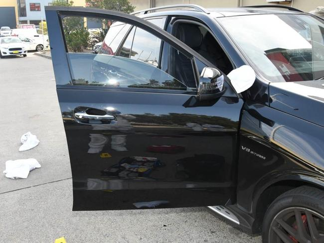 The car Mick Hawi was shot in. Picture: Handout via NCA NewsWire