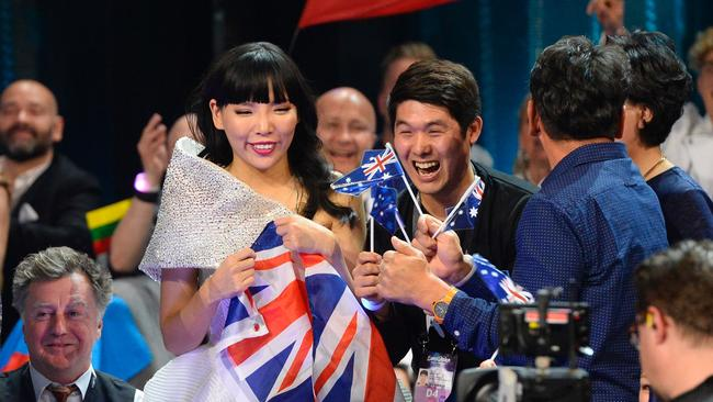 The world's most graceful runner-up, Dami Im. Picture: AFP/Jonathan Nackstrand