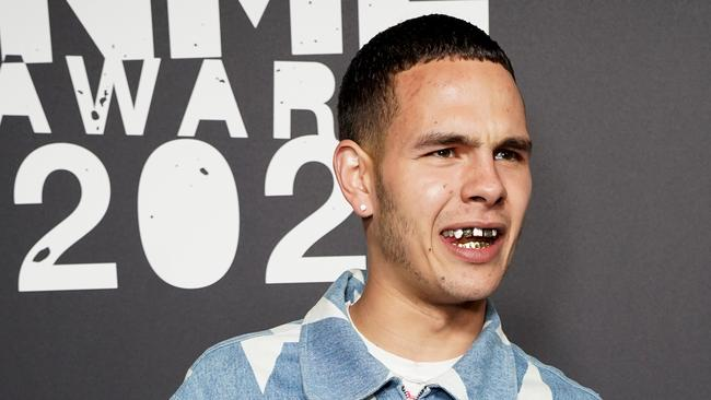 Slowthai at the NME Awards, before it all went pear-shaped. Picture: Getty