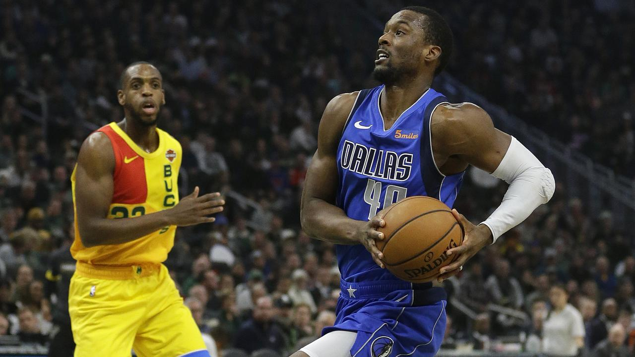 Harrison Barnes was traded today - while on court for the Mavericks. (AP Photo/Aaron Gash)