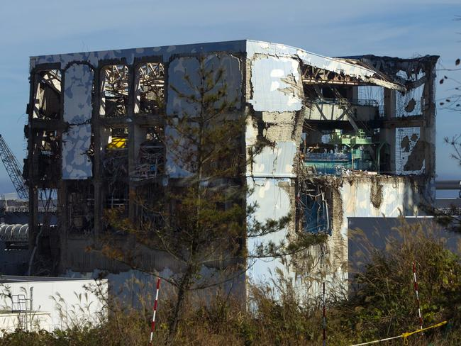 The crippled Fukushima Dai-ichi nuclear power station in Okuma on November 12, 2011 — eight months after the world's worst nuclear disaster in 25 years. Picture: David Guttenfelder/AFP