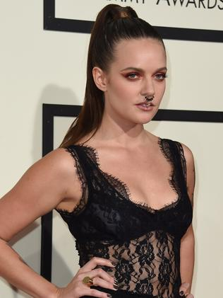 Tove Lo goes gothic and wears a nose ring. Picture: AFP