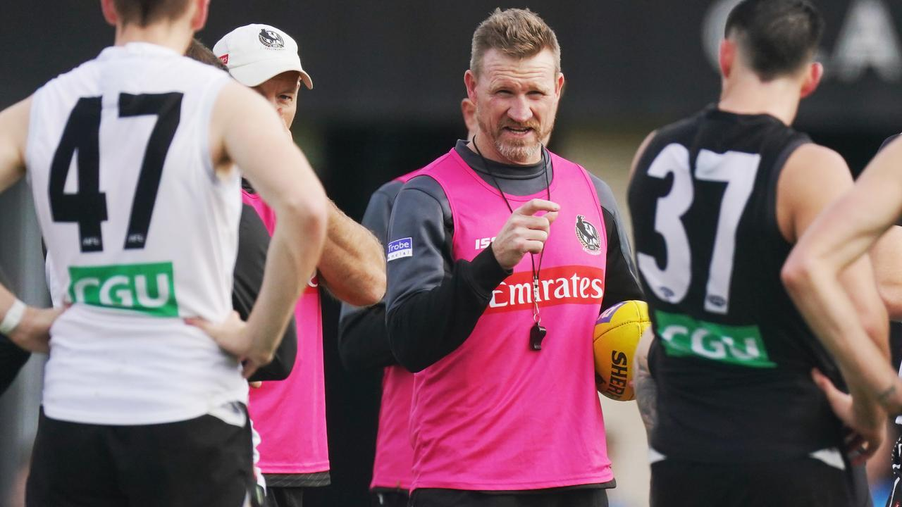 Magpies head coach Nathan Buckley. Picture: Michael Dodge