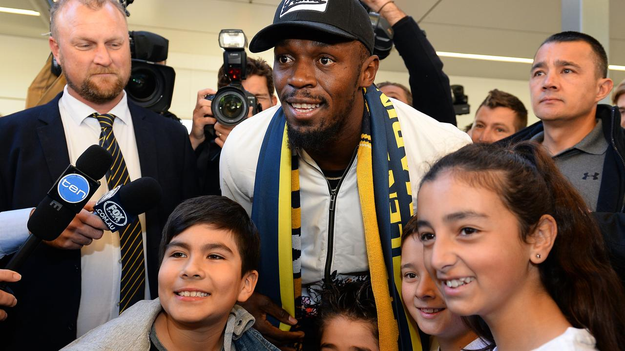 Bolt has had his first training session with the Mariners.