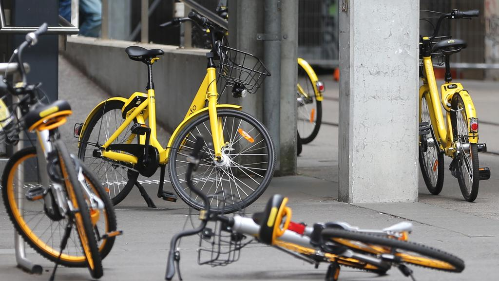 Waverley Council has vowed to start impounding abandoned share bikes. Picture: John Grainger