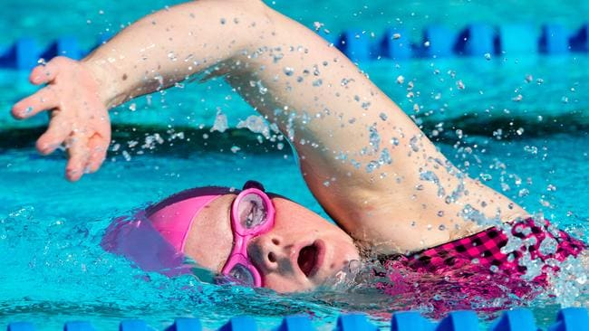 Geelong's Phoebe Mitchell, 25, has several world swimming titles. Picture Jay Town