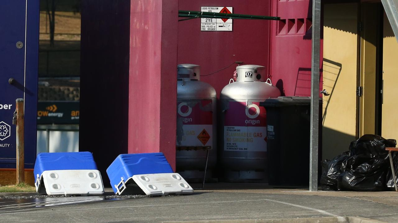 Mad Monday, empty eskies and rubbish bags at the Broncos training facility, Red Hill. Pic : Liam Kidston