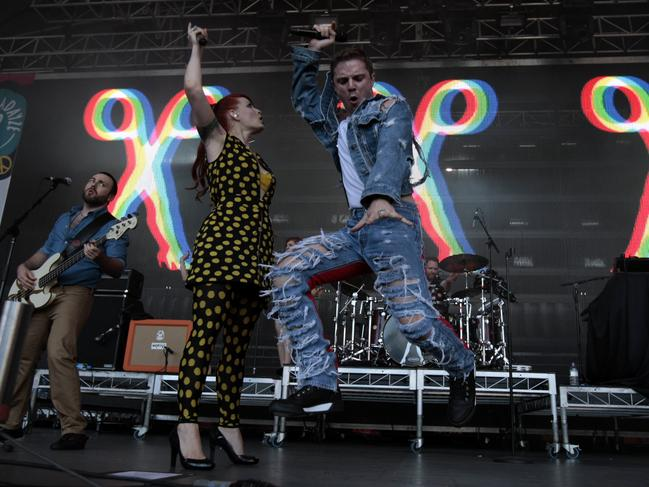 The final Scissor Sisters tour of Australia in 2012 at Summadayze in Melbourne. Pic: News Corp