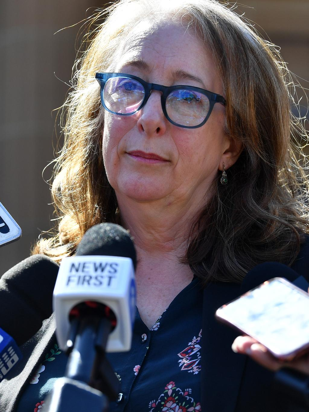 Tess Knight addresses the media. Picture: AAP