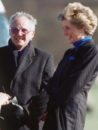 Princess Diana laughing with Dickie Arbiter. Picture: Getty