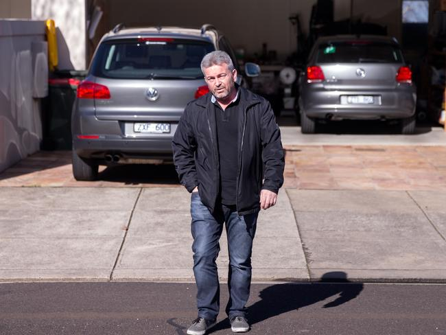Borce Ristevski pictured at his home in Avondale Heights on July 31, 2016, two days after his wife went missing.