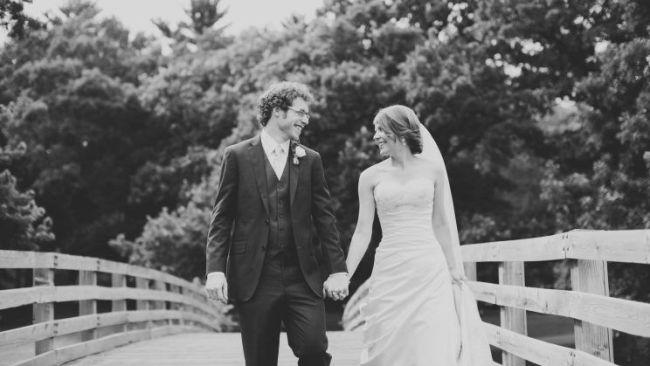 Photo: Johanna and Scott on their wedding day. (Photo: Facebook @ScottWatkins)