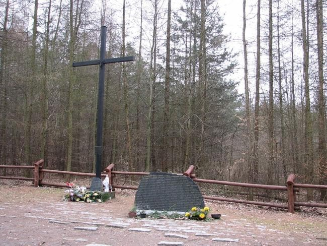 A memorial for victims of LOT Polish Airlines flight 5055 in the Kabaty Woods outside Warsaw, Poland. Picture: Wikimedia Commons/Grzegorz Petka