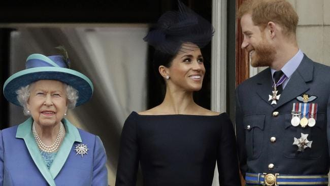 The Queen announced her final decisions regarding Meghan and Harry's new life on Sunday morning. Picture: AP