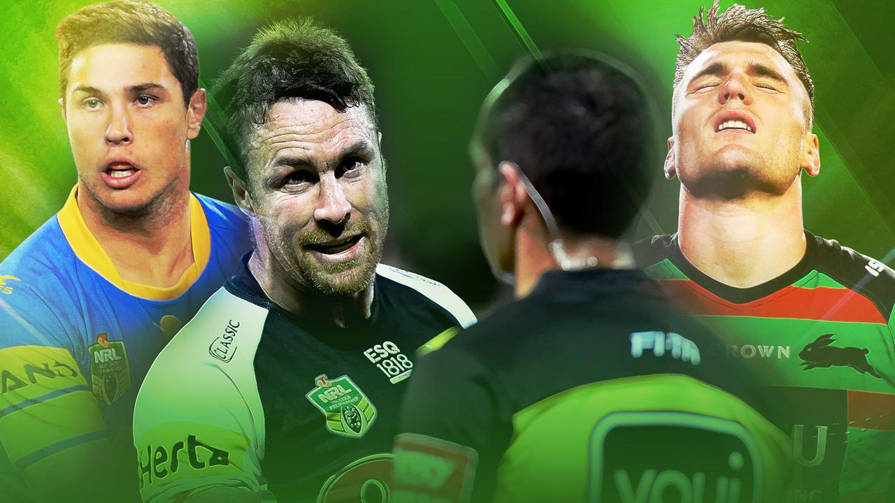 Mitchell Moses, James Maloney and Angus Crichton copped plenty of penalties in 2018.
