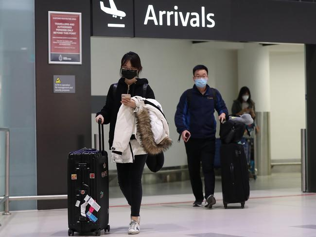 Passengers arrive on a China Southern Airlines flight to Perth on February 2. Picture: Paul Kane/Getty Images