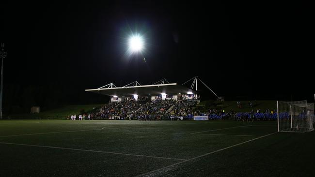 The lights go out at Cromer Park. (Matt King/Getty Images)
