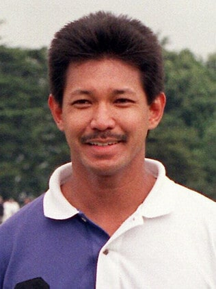 Prince Jefri aged 40 at a polo match in Britain.