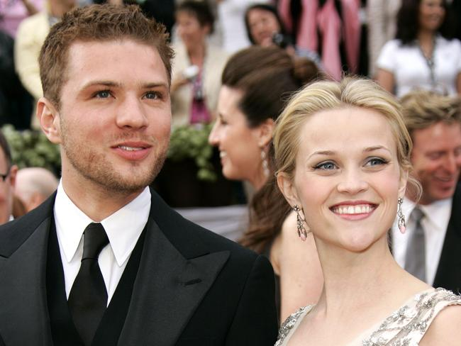 Ryan Phillippe arrives with his wife Reese Witherspoon at the Academy Awards in 2006. Picture: AP