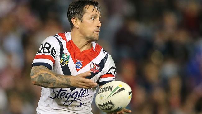 Mitchell Pearce in action for the Roosters.