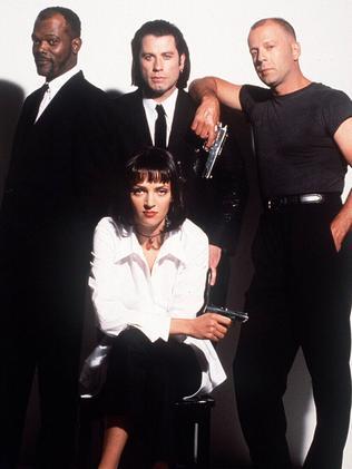 Pulp Fiction stars.