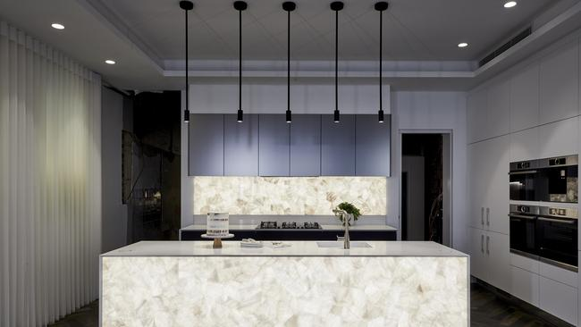 Inside Mitch and Mark's light-filled kitchen. Picture The Block/ Channel 9