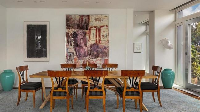 Meryl wrote a couple of Postcards From The Edge on this table. Picture: Douglas Elliman Real Estate