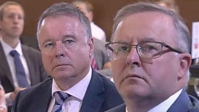 Joel Fitzgibbon and Anthony Albanese, pictured last year, could fight it out for the top job. Picture: ABC