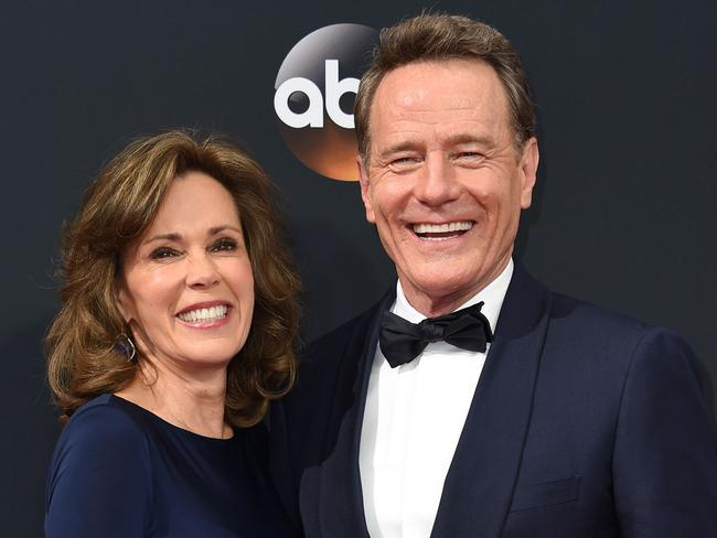 Bryan Cranston and his wife Robin Dearden. Picture: Robyn Beck