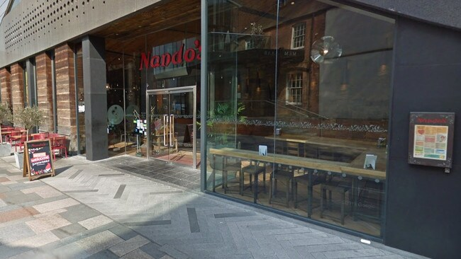 The Nando's fast food restaurant where the incident took place. Picture: Google Maps