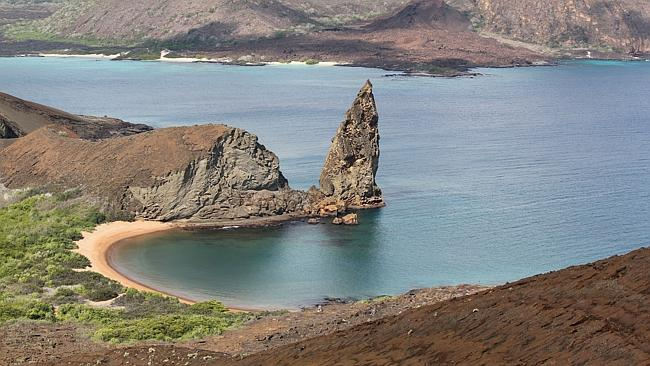 The Galapagos Islands' Pinnacle Rock. Picture: Chanel Parratt