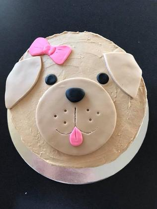 This cute cake made by Kayla Archer was simple, but impressive.