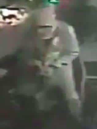 A still from the CCTV reportedly showing the gunman. Picture: Twitter