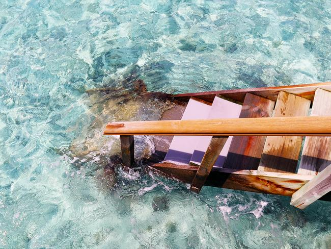 Holidaying in the Maldives. Picture: Angus Mead