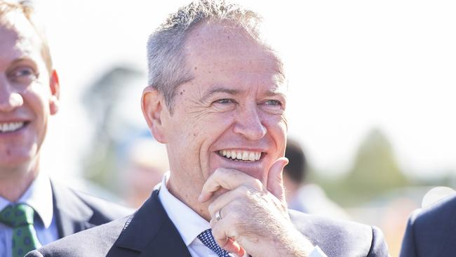 Opposition Leader Bill Shorten is seen at the road upgrades announcement for Melbourne's south-east. Picture: AAP/Ellen Smith