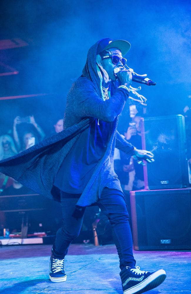 Lil Wayne headlined Nana Judy's Coachella after-party on Friday night. Picture: Lady Drewniak