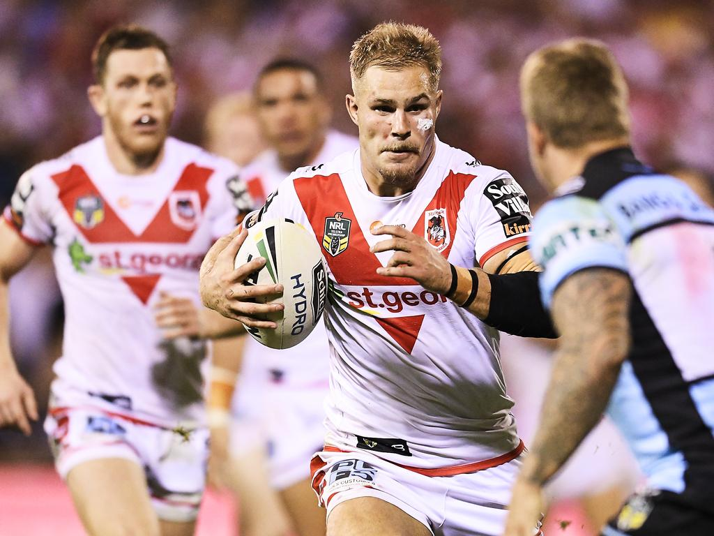 Jack de Belin will play for the dragons in April 2018.  Image: Brett Hemmings / Getty Images