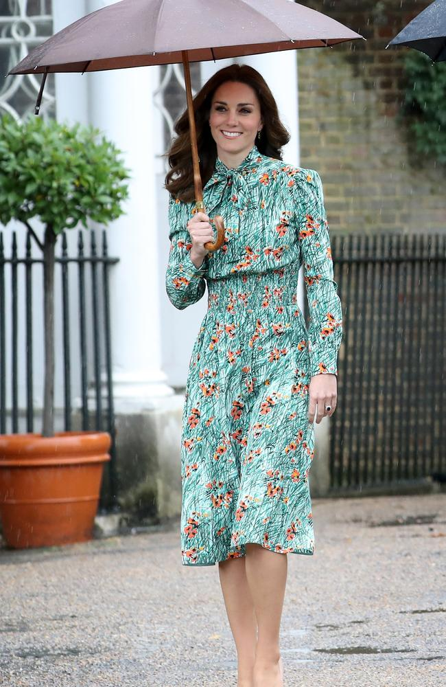 Catherine, Duchess of Cambridge pictured last week with no hint of a baby bump. Picture: Chris Jackson/Getty Images.