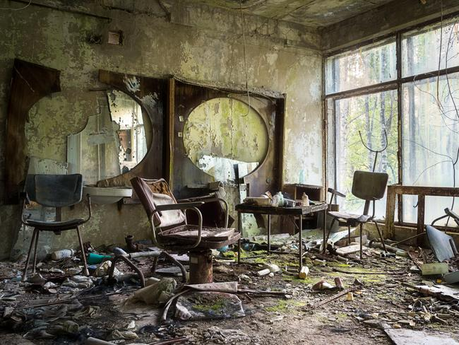 Indoor at the abandoned city of Pripyat in Chernobyl. Picture: Alamy