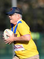 Scott Morrison joined a rugby league drill with students from the Clontarf Academy at Endeavour Sports High School in Sydney in 2018.