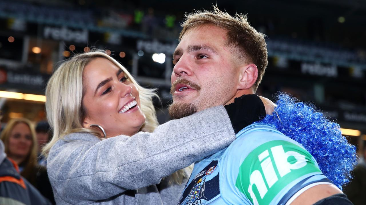 Jack de Belin's partner Alyce Taylor is aware of the allegations.