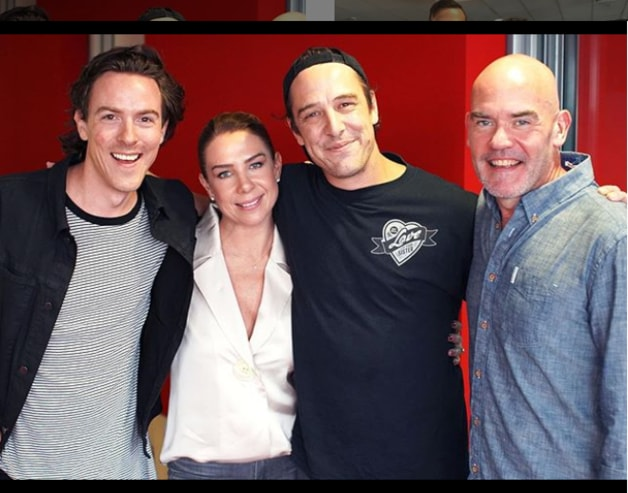 Samuel Johnson was keen to talk about that kiss with Nova's Tim Blackwell, Kate Ritchie and Marty Sheargold.
