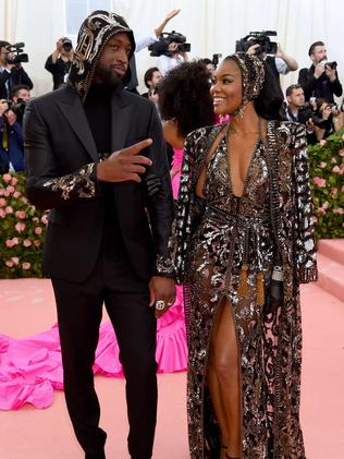 Dwyane Wade and Gabrielle Union attend The 2019 Met Gala Celebrating Camp. Picture: Jamie McCarthy/Getty Images