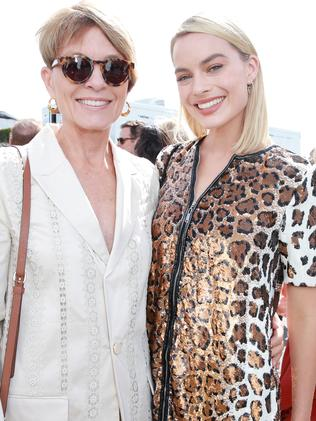 Actor Margot Robbie and mother Sarie Kessler in 2018. (Photo by Rich Fury/Getty Images)
