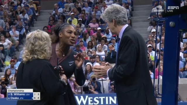 Serena explodes at officials