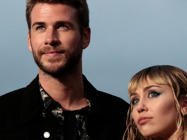 Miley Cyrus and Liam Hemsworth pre-divorce. Picture: AFP
