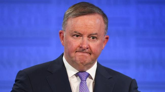 Anthony Albanese speaks at the National Press Club in Canberra on Friday.